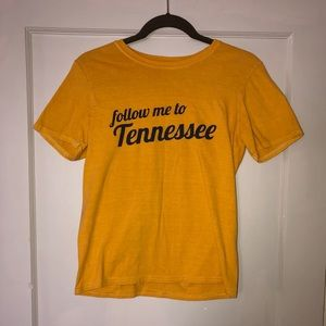 """Yellow """"Follow Me To Tennessee"""" T-Shirt"""